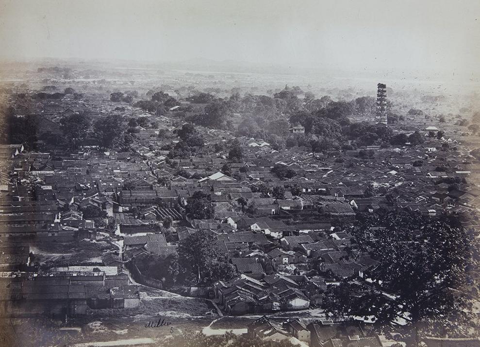 VH03-68  俯拍广州-包括琶洲塔-1870