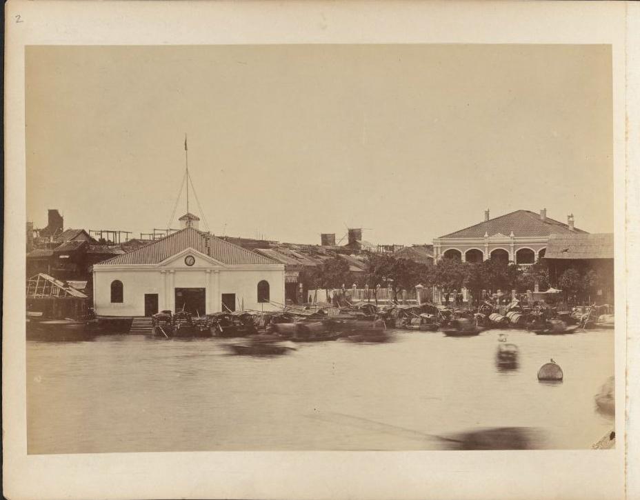 hv40-09广州江面舢板-1893-杜维德